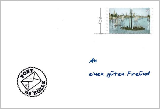Ein beschriebener Briefumschlag