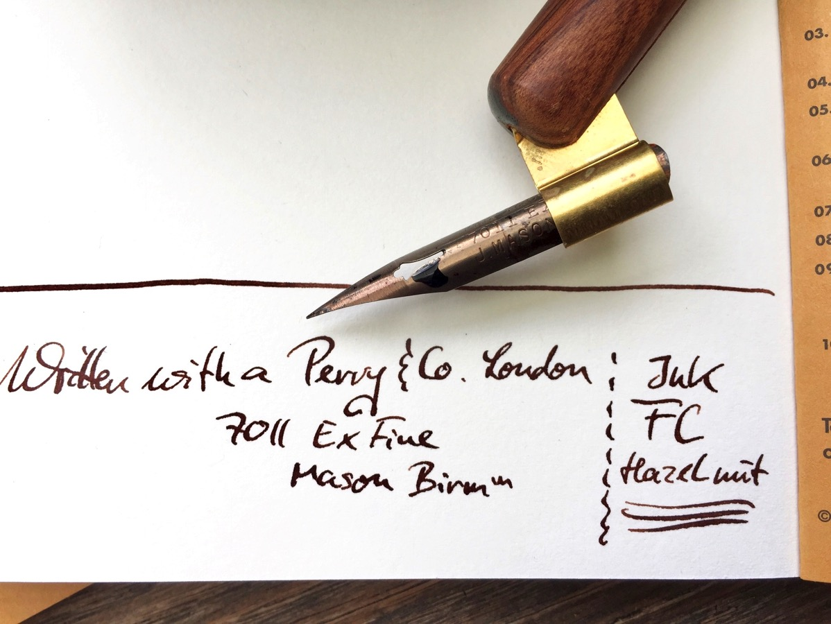 Some text on paper, handwritten with brown ink
