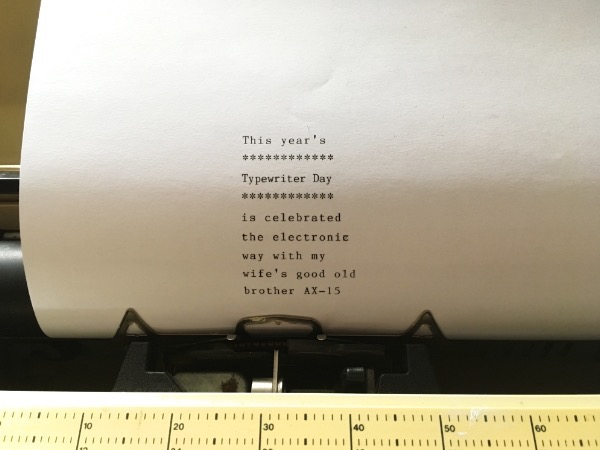 a sheet of paper in a typewriter
